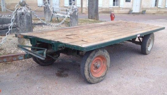 remorque plateau 4 roues